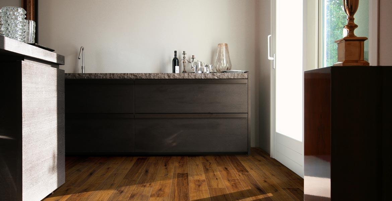 Küchenfliese Feinsteinzeug Glasiert BERNIT Fliesen Naturstein - Fliesen holzoptik 40x80
