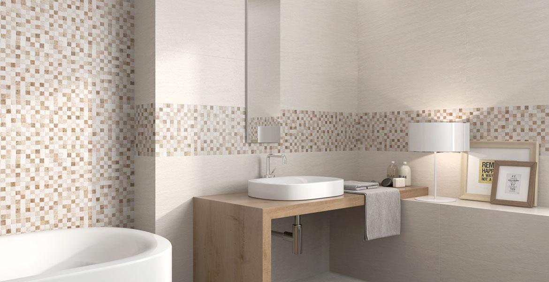 Mosaik Für Badezimmer Trivor Beige