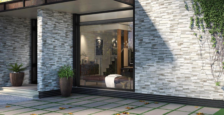 naturstein riemchen auen trendy bossierte verblender warm und mediterran einfach zu verarbeiten. Black Bedroom Furniture Sets. Home Design Ideas